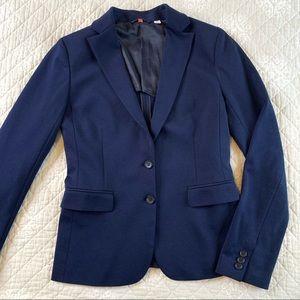 UNIQLO Navy Stretch Button Blazer Small